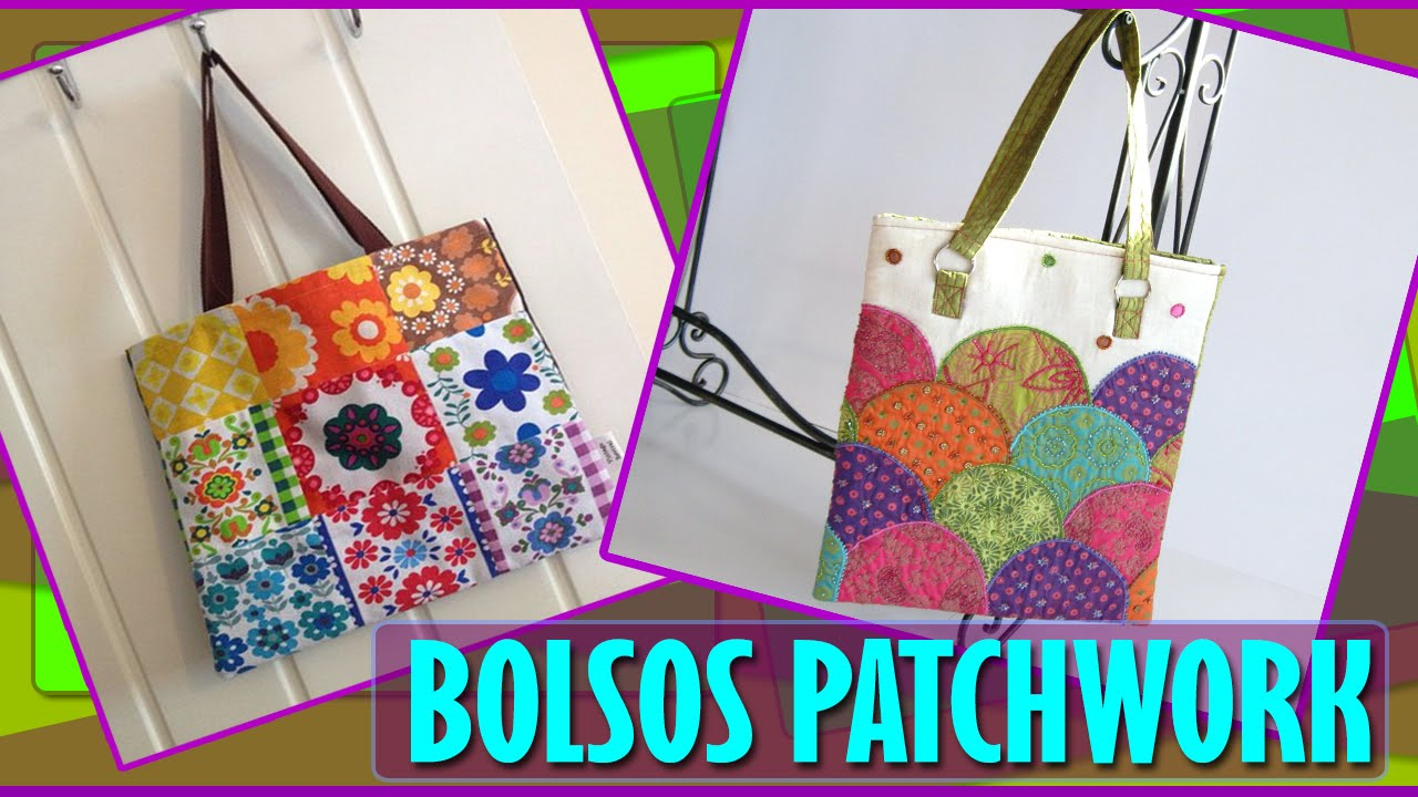 Bolsos y carteras patchwork en tela estilo y tendencias - Como hacer cuadros de tela ...