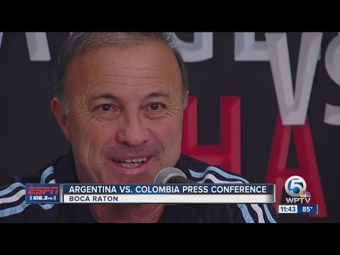 Argentina/Colombia press conference