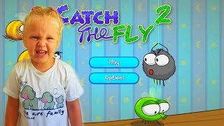ИГРА ПРО ПАУКА как мультик. ПАУЧЕК ловит мух. Видео для детей.