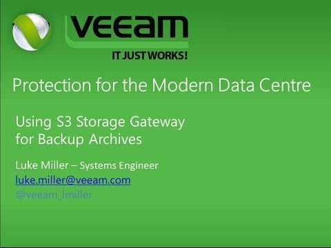 Veeam - Archive Backups using AWS Storage Gateway and S3