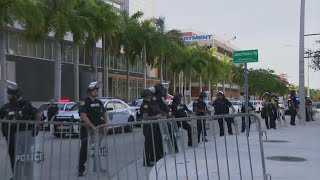 Peaceful Protest In Downtown MIami