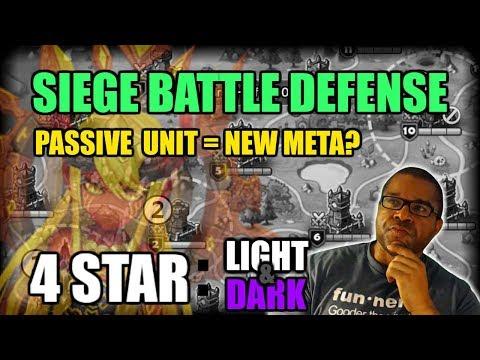 SIEGE BATTLE: BEST LIGHT AND DARK MONSTERS FOR 4 STAR GUILD SIEGE DEFENSE!