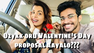Ozykk oru Valentine's Day proposal | Diya Krishna | Vaishnav Harichandran