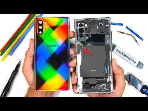 Samsung Note 10 Plus Teardown TWO Wireless Chargers?