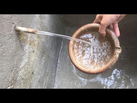 Primitive technology with survival skills build a water filter tank part 3