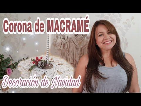Centro de Mesa Navideño, Corona de Macramé para Navidad