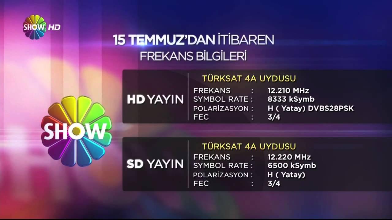Show Tv Hd 15 Temmuzda Ifresiz Yay Nda Show Hd Turksat