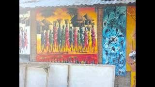 Local artist Zeena  (Dar Es Salaam, Tanzania ) 😊