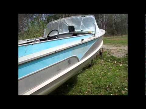 Vintage Aluminum Boat With FINS
