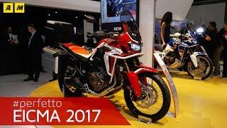 Eicma 2017 - Honda Africa Twin CRF1000L 2018 [ENGLISH SUB]