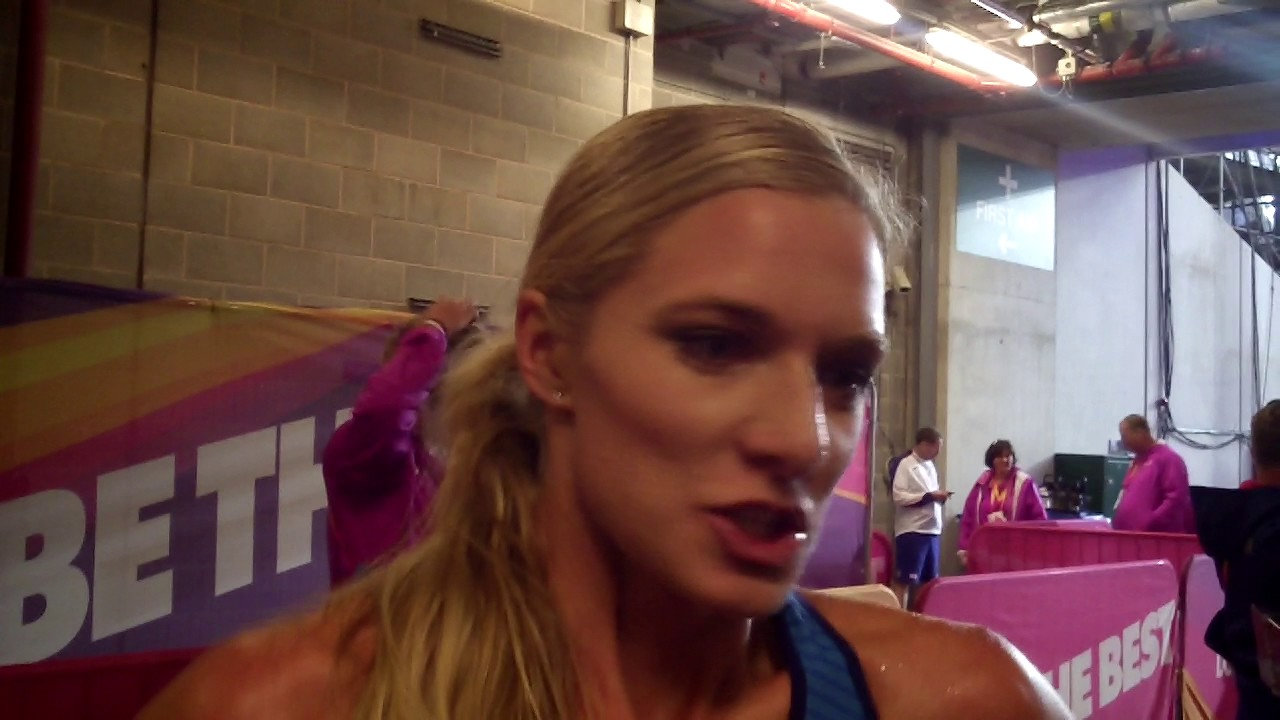 Emma Coburn after advancing to 2017 Worlds steeple final - YouTube