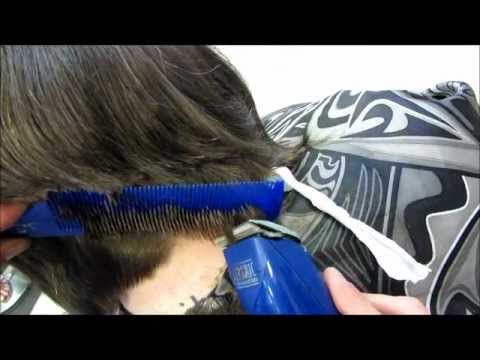Surprise Cut Off 10 Inch Ponytail Clipper Haircut 2 Video Graduated