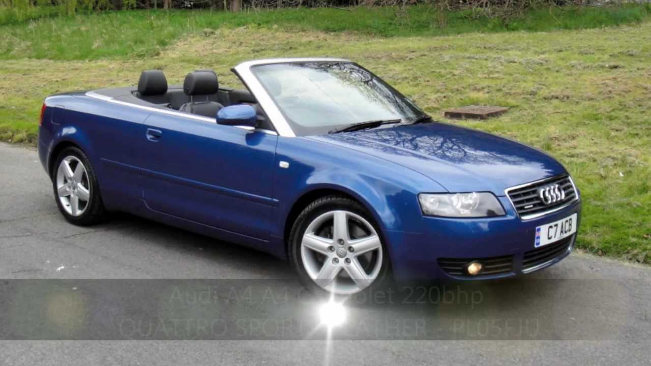 audi a4 a4 cabriolet 220bhp quattro sport leather. Black Bedroom Furniture Sets. Home Design Ideas