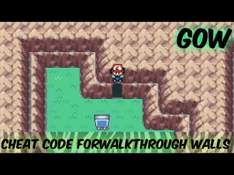 WALKTHROUGH WALLS CHEAT CODE FOR ASHGRAY,FIRERED,LEAFGREEN || WALKTHROUGH CHEAT FOR POKEMON ASHGRAY