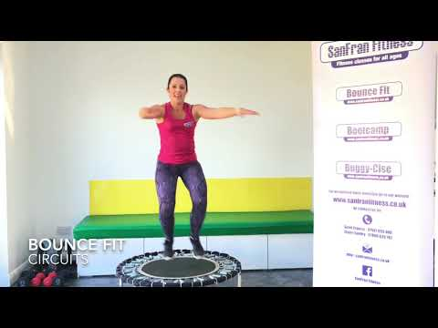 20 Minute Circuits Workout on Rebounder (Bounce Fit)