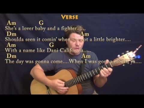 Dani California (RHCP) Guitar Cover Lesson with Chords/Lyrics