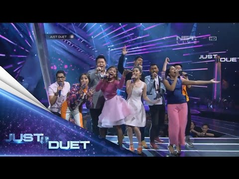 Aww, all 9 contestants sings Panah Asmara by Chrisye! - Live Duet 04 - Just Duet