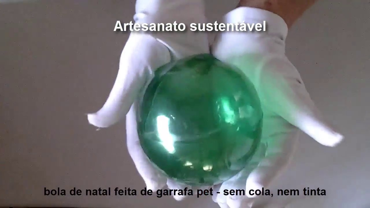 Aparador Sala De Estar ~ bola de natal feita de garrafas pet sem cola fácil diy YouTube
