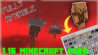 FULLY AFKABLE PIGLIN BARTERING FARM! - 1.16 Minecraft Farm Design