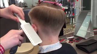 Как сделать тушёвку в мужской стрижке.