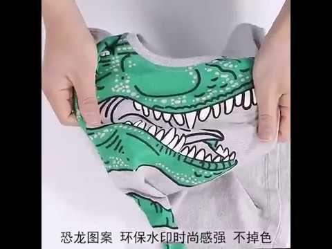 3D Dinosaur Print Fashion Short Sleeve T Shirt For Boys