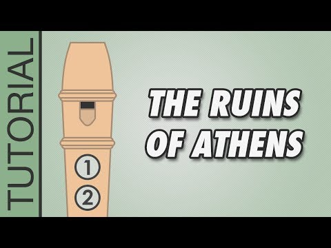 Beethoven - Ruins of Athens - Recorder Notes Tutorial