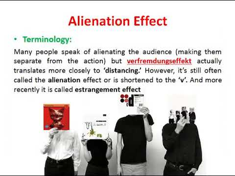 Brechtian Theater  & Its Alienation Effect (verfremdungseffekt)