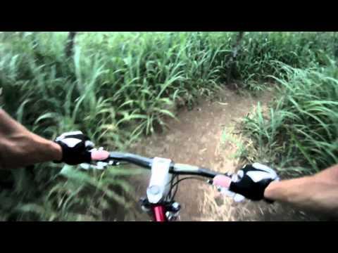 Mountain Biking Kalaheo trails on Oahu