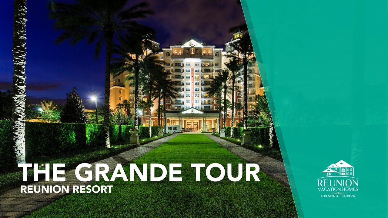 The grande at reunion resort tour aerial views youtube