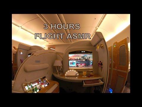 ✈ Airplane White Noise - ASMR (Emirates Boeing 777-200LR Interior)