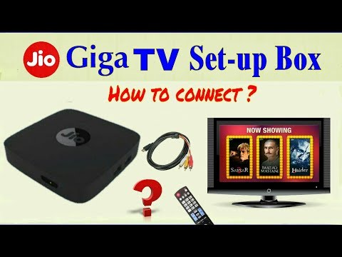 Jio Giga Tv Setup Box ।। How To Connect On LCD TV