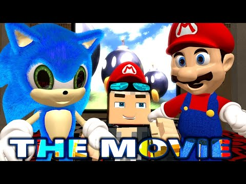 SUPER MARIO 64 Vs MINECRAFT CHALLENGE! THE MOVIE! Ft. Sonic (official) Minecraft Animation Game