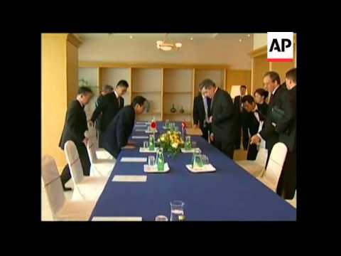 Bush meets Medvedev, Brown meets Fukuda