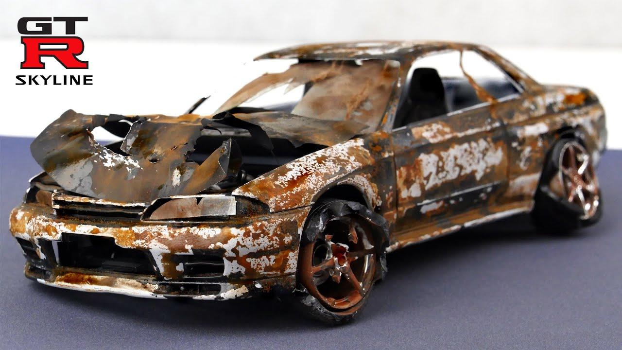 Destroyed Nissan Skyline GTR R32 Restoration abandoned car
