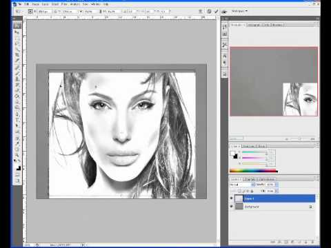Photoshop convert photo to pencil sketch