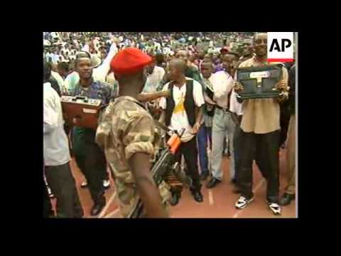 CONGO: KINSHASA: REBEL LEADER KABILA IS SWORN IN UPDATE