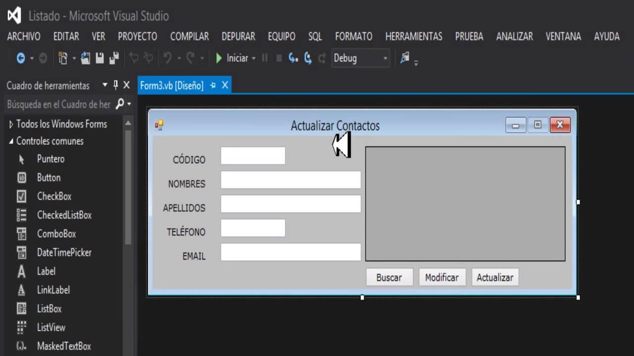 Boton Actualizar En Visual Basic Con Access