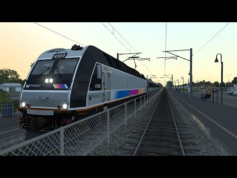 Train Simulator 2017 New Jersey Coast Line Bay Head to Hoboken