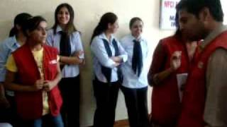 PART-1 NFCI STUDENTS & STAFF PLAYING DUMB SHERAZ  WITH RJ MAMTA