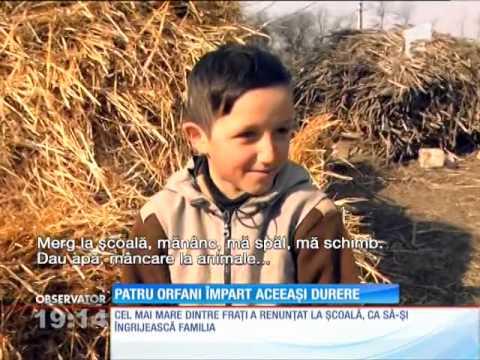 Într-un sat din Iaşi, patru copii orfani se gospodăresc singuri, ca nişte oameni mari!