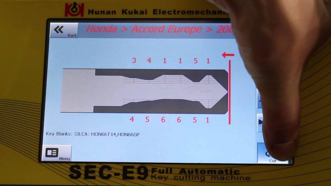 How To Cut A Hon66 Car Key On Sec E9 Key Cutting Machine