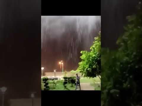 منظر مرعب اليوم من عين الإعصار مكونو - ظفار - عمان 26/5/2018 , cyclone mkono