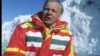 David Attenborough at huge glaciers in Antarctica - BBC wildlife