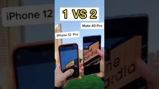 iPHONE 12 PRO vs HUAWEI MATE P40 PRO #Shorts