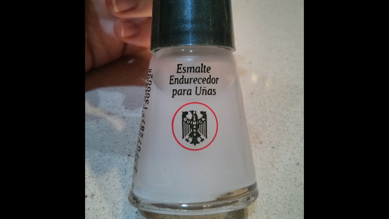 Esmalte endurecedor para uñas de Química Alemana - YouTube