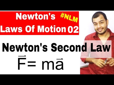 Class 11 Chap 5 || Laws Of Motion 02 || Newtons Second Law Of Motion || NLM  IIT JEE NEET  NCERT