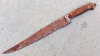 Restoration Rusty Antique Long Knife