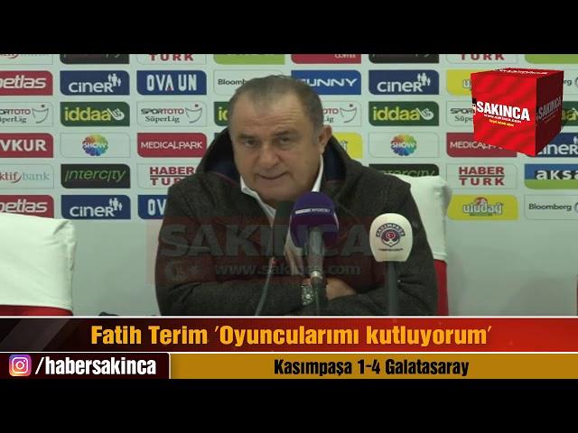Kasımpaşa 1-4 Galatasaray (Fatih Terim Basın toplantısı)