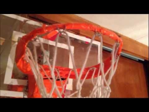 How to make a duct tape indoor basketball hoop doovi for Homemade basketball court