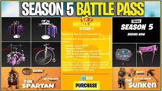 *NEW* Fortnite: LEAKED SEASON 5 BATTLE PASS SKINS AND MORE! | (POI's, Animals, Dinosaurs, and More!)